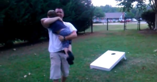 コーンホールで遊ぶホーム撮影で3才の男の子が起こした奇跡に家族は歓喜!!
