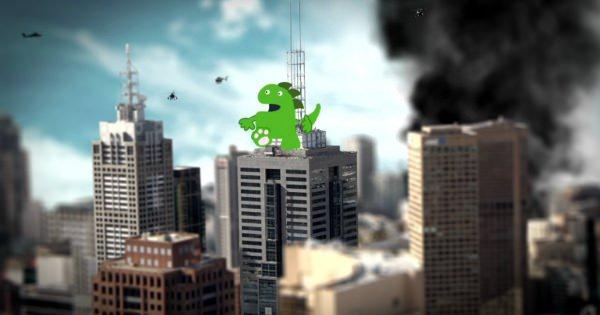 都市育成ゲームをしているような神様。いたずらで都市に「怪獣」を置いた結果は・・・?