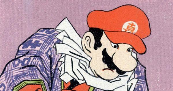 もし有名アニメのキャラクターが浮世絵で描かれたら?