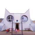 面白い建物発見。にゃんこ大好きな人集まって!!ドイツにあるネコ型幼稚園