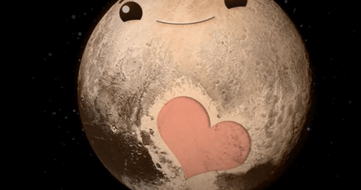NASAの無人探査機が捉えた冥王星にハート型のマークを発見?