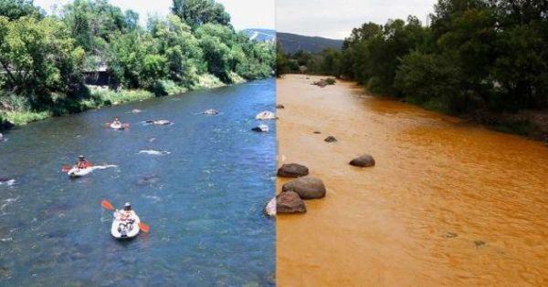 アメリカ・コロラド州の川に鉱山の汚染水が放出するヤバい事故発生