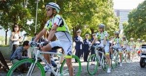 なくせ自転車事故-警察官による自転車安全利用指導啓発隊「BEEMS」発足