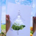 切り絵と風景を重ねた写真がオシャレで新たな表現になりそう
