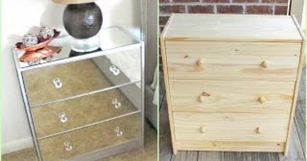 IKEAハック!IKEAのシンプルな棚をゴージャスにDIY!!