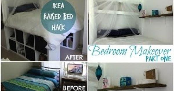 IKEAハック!IKEAの棚で素敵なプラットフォームベッドを!