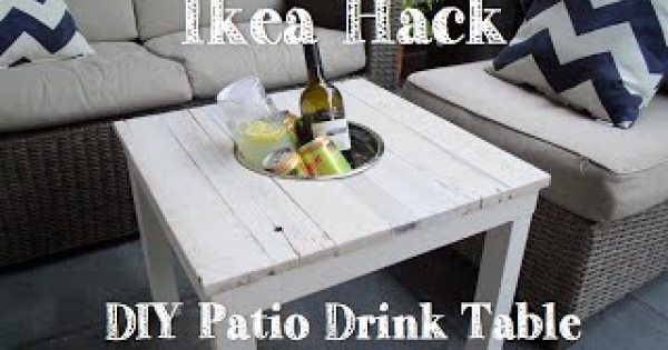 IKEAで一番安い商品でドリンクテーブルまでDIY?!IKEAハック!