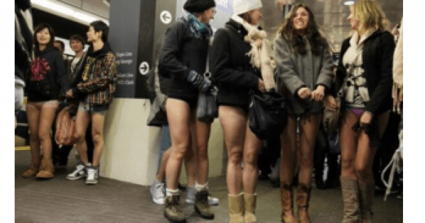 <お洒落~~!> No Pants Day in CANADA