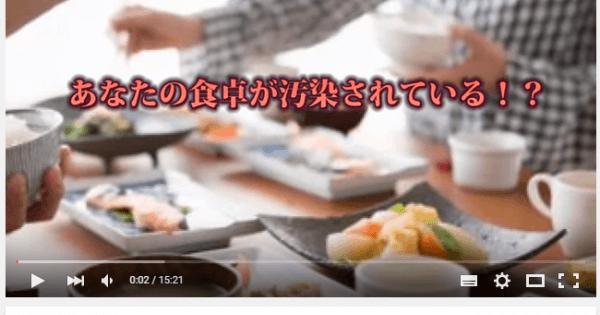 <15分解説 youtube>・・・【衝撃恐怖】あなたの食卓が汚染されている!?