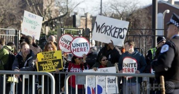 トランプ氏の選挙集会で暴動勃発・・・支持派VS批判派の間での小競り合いはよくある、集会は延期に 米シカゴ