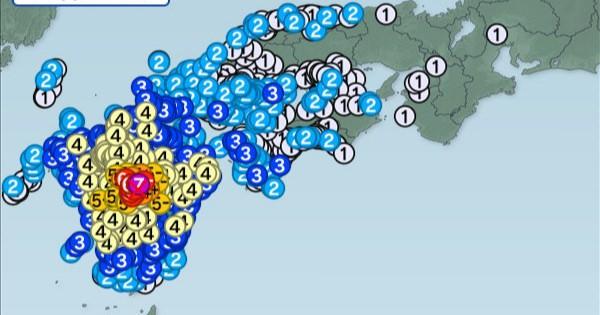 熊本県で震度7!家屋倒壊2件、続く余震