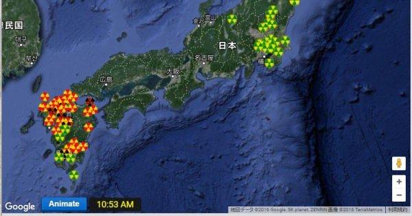 ・・・やはり人工地震だ! 九州各地で異常な放射能お汚染を検出中・・・間違っていただくない!被災者を嘲り笑ってるのは人工地震を工作した連中だ!!この現実を直視し日本の深い病巣に対抗しないと、またつぎの悲惨な犠牲者が日本に誕生する。福島熊本だけで終わらないのだ!!!
