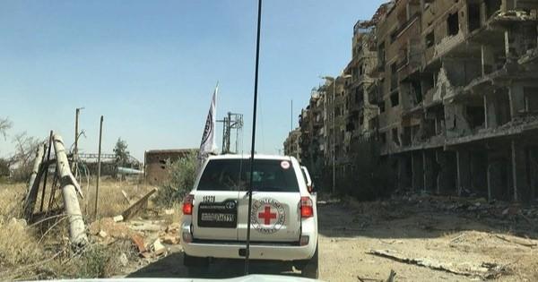 2012年以来、政府軍に包囲されたシリア・ダラヤにやっと人道物資援助が入る・・・。