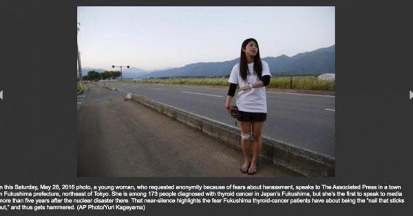 沈黙を破る福島の女性甲状腺がん患者、初めて写真を示しインタビューに応じる。