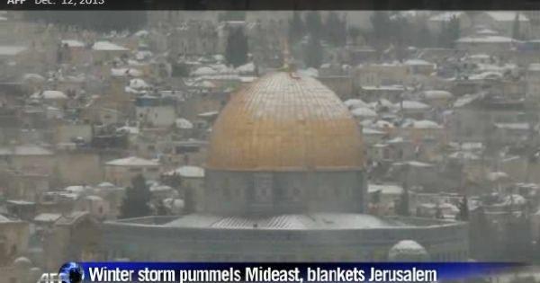 <この驚愕の事実・・・!> 【氷河期到来】中東各国で大雪!エルサレムは大混乱!カイロでの降雪は過去百年間で初!