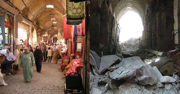 シリアのビフォー+アフターに涙が止まらない人が続出・・・! 戦争ビジネスの悲惨な現実を阻止できるのは99%の思いやりと連帯!!