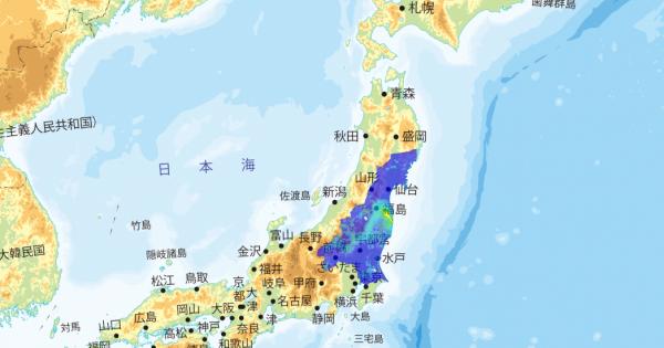 福島原発事故直後に各自が思った汚染範囲の違いと実際の汚染範囲