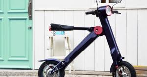 超小型、超軽量で折りたたんで持ち運べるモバイルeバイク「UPQ BIKE me01」