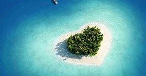 ハートの形をした島に住んでみたいと思いませんか?いい島紹介します。