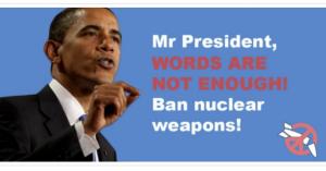 「核兵器先制不使用」に反対の安倍首相はオバマ政権の「核兵器なき世界」実現を妨げる矛盾を露呈。