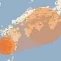 西日本在住者は真摯にこの現実を見つめる必要があると思う!  地震で川内原発がメルトダウンした場合の放射能汚染想定図