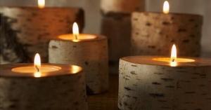 冬の寒い日にほっこりできる木のキャンドル ~wood candle~
