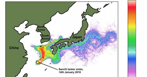 中国のタンカー沈没、有毒成分が揮発、大気汚染が起こる危険