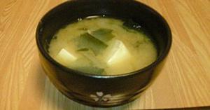 日本食の定番汁物のお味噌汁