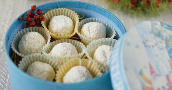 冬にぴったり♪簡単・可愛い【スノーボールクッキー】レシピ♡