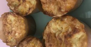 妊娠中期妊婦のズボラ おかずマフィン(オニオンチーズコーンマヨ味)