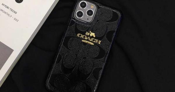 Coach iphone11ケース 無地 ロゴプリント コーチ かわいい iPhone11/xs max携帯ケース 人気ブランド PUレザー製