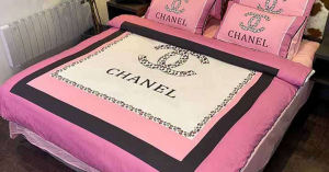 シャネル ベットカバーセット chanel 布団カバー4点セット チェック柄 掛け布団カバー 暖かい ホワイト