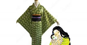 嘴平琴葉 コスプレ衣装 【鬼滅の刃】 cosplay 伊之助の母 和服