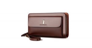 Whatna ミニセカンドバッグ メンズ バッグ 14枚カード収納 小さめ クラッチバッグ 長財布 革 手持ちバッグ