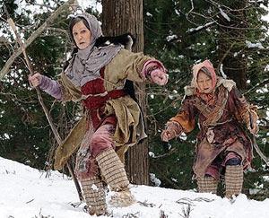 熊を村へ誘導する為に山を駆けるカユ(70)とヒカリ(85!)
