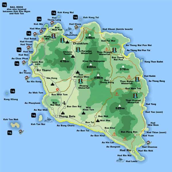 パンガンマップ