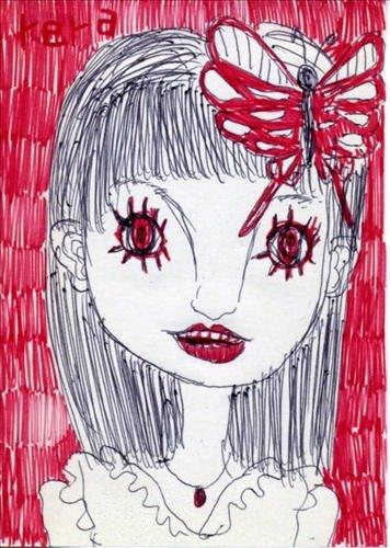 目が赤い恐怖
