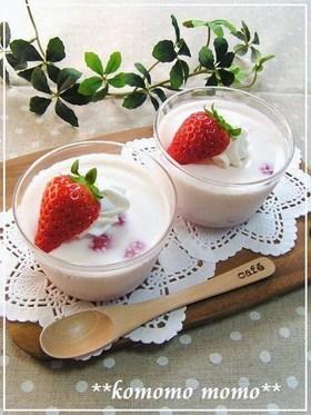 レンジで簡単♥いちごミルクプリン♥ by komomoもも 【クックパッド】