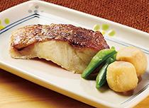 【夕食】赤魚の塩焼き・ほっこり煮合わせ