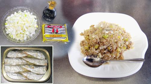 *いわし炒飯*オイルサーディン<分福サーディン丼>