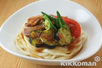 豚と焼き野菜の冷やし麺のレシピ|Kikkoman