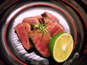 すだち風味・牛肉のマリネステーキ by くまめし 【クックパッド】