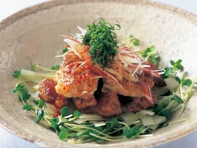 鶏マリネ焼き 香味野菜サラダ添え