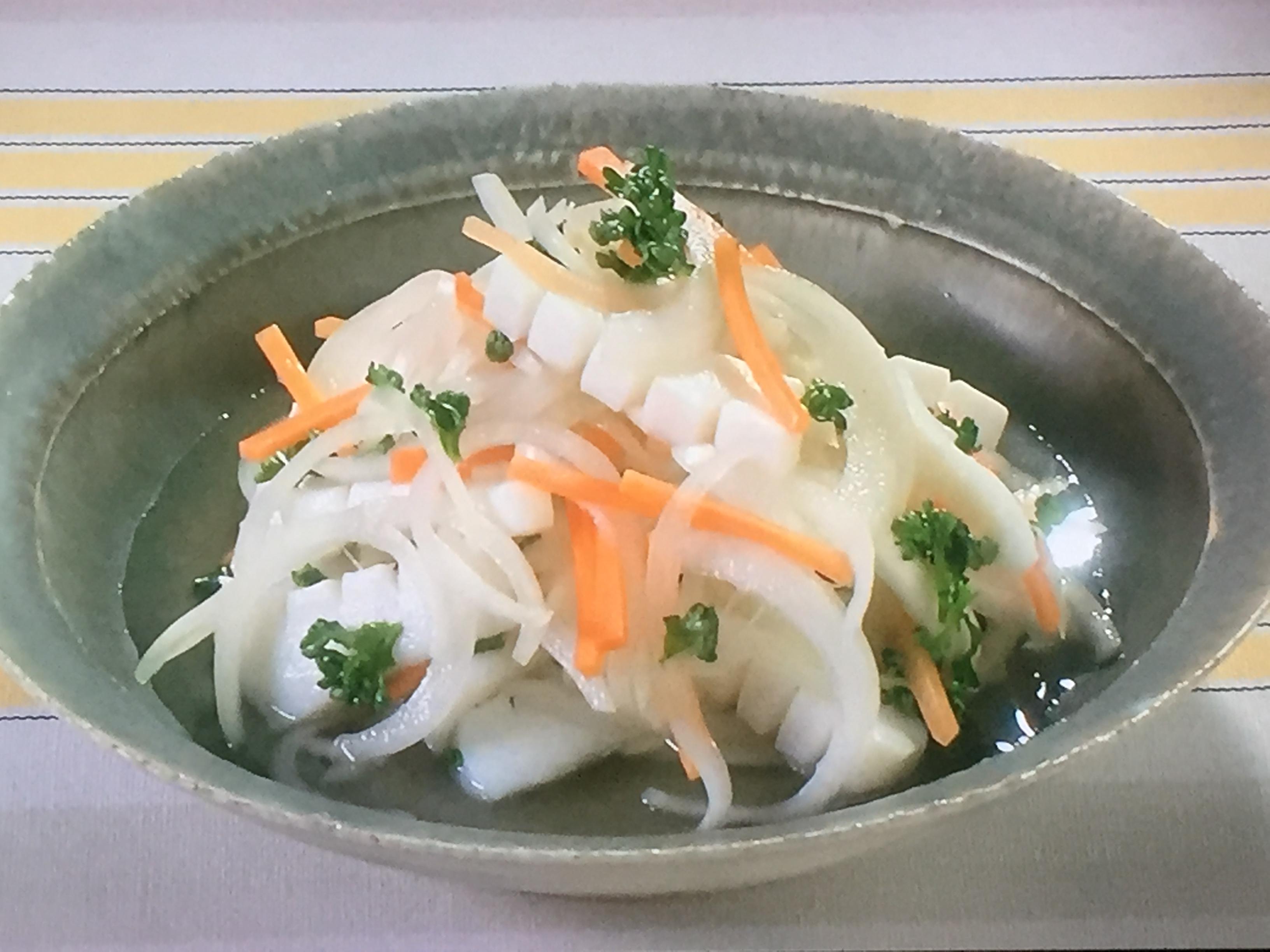 NHKきょうの料理ビギナーズはいかとたまねぎのマリネ