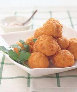 いか団子の揚げ物レシピ | カロリー