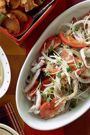 いかとトマトのイタリアンサラダ