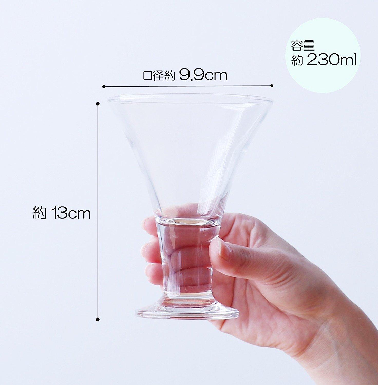 アデリア パフェグラスサイズ