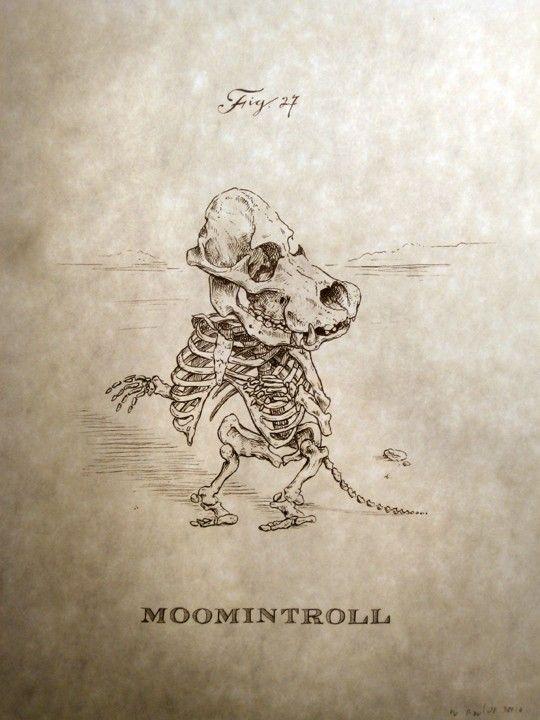 Moomintroll Skeleton 怖いわ。