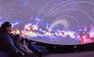 国立天文台月4回の 4D2Uドームシアター公開
