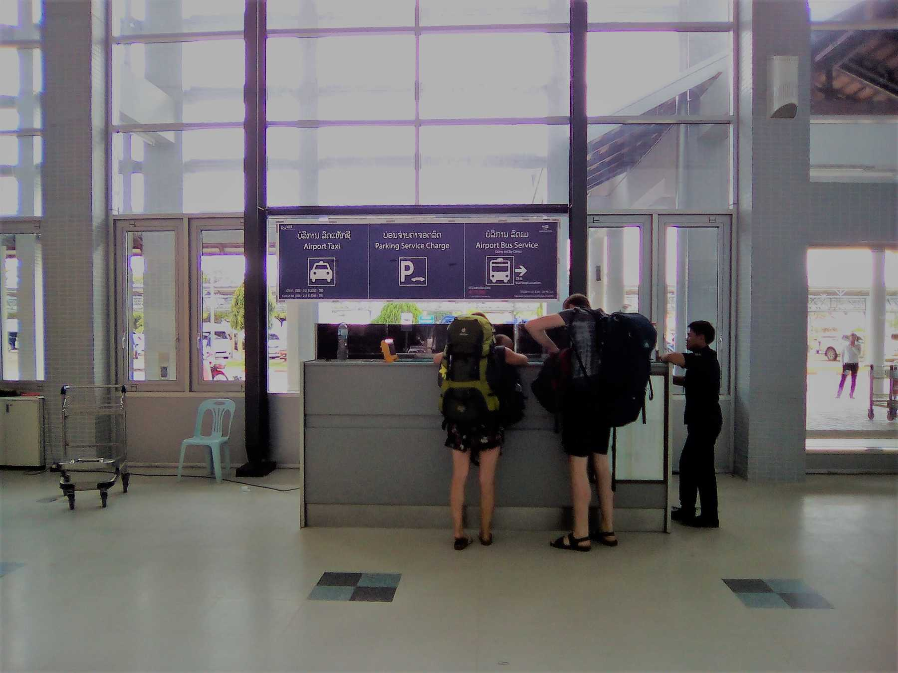 ビエンチャン空港(ワッタイ国際空港)インフォメーションカウンター